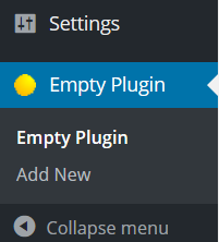wordpress plugin admin menu