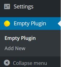 wordpress plugin admin menu
