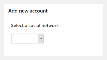 WP Social Importer - Facebook add new account